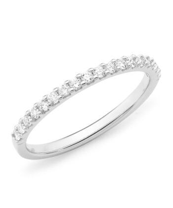 Diamond Set Wedding Ring in 18ct White Gold