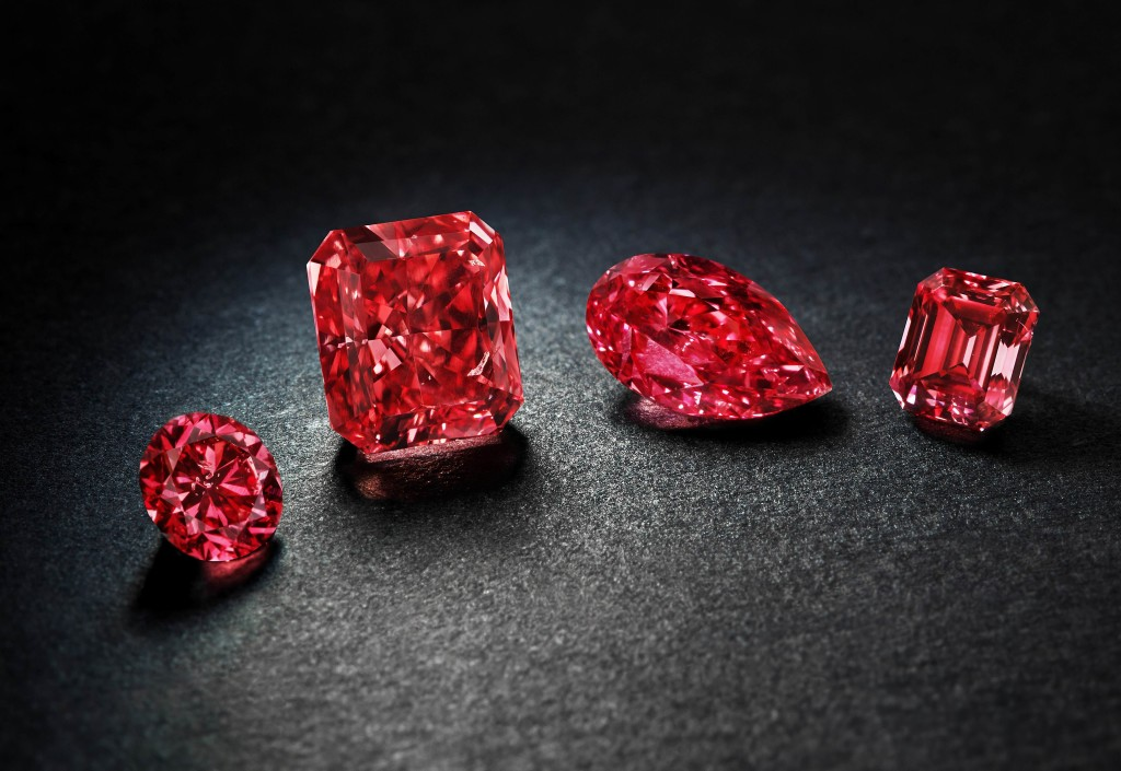 Rio Tinto showcases the world's largest collection of rare red and pink diamonds